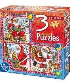 D-Toys Puzzle Crăciun set 3 Nr.67630-01