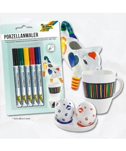 Folia Marker pentru porțelan set 5 culori