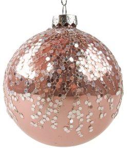 Glob Sticlă set 6 buc roz Art 3677