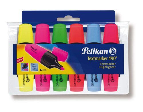 Pelikan Textmarker 490 set 6 culori 943316