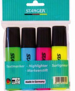Stanger Textmarker clasic set 4 culori