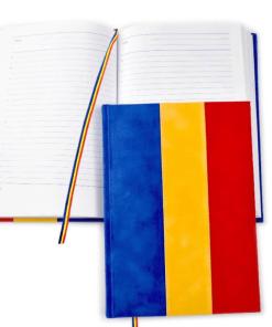 Agendă Material Textil Tricolor Românesc A5