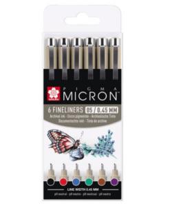 Sakura - Pigma Micron Basic 05 set 6 x Fineliner