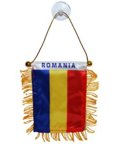 Steag Auto cu ventuză tricolor 8 x 12 cm