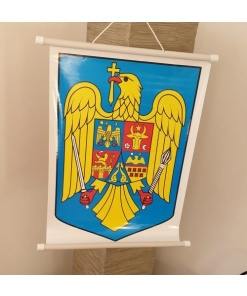 Aquila - Planșă stema României 32 x 48 cm