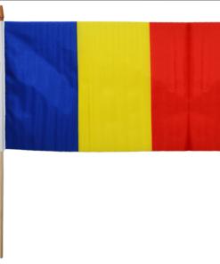 Steagul României cu suport de lemn 30 x 45 cm