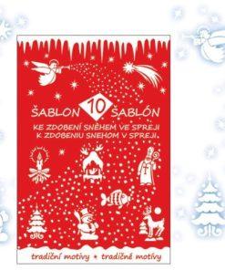 Sablon pentru vopsele decorative de Crăciun 10 modele