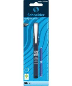 Schneider Blister Stilou + 2 patroane Inx Sportive albastru