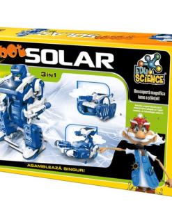 D-Toys - Joc Edu Science Robot solar 3 în 1
