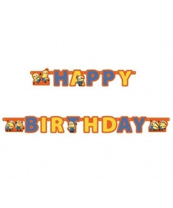Banner Happy Birthday Despicable Me Minion Made