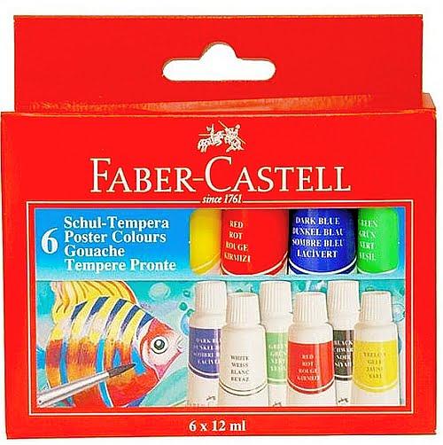 Faber Castell Tempera scolara set 6 121006