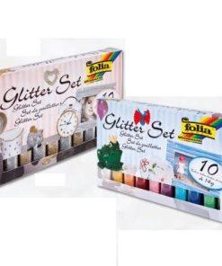 Folia Set Glitter pulbere 10 tuburi