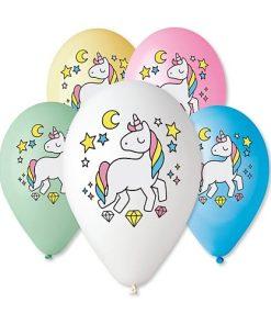 Gemar Baloane colorate 30cm imprimate Sweet Unicorn #661
