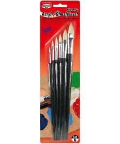 Meyco Set 6 Pensule Acryl-Ulei 14238