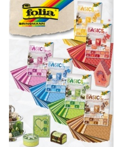 Folia Bloc Carton decorativ 24x34cm motiv Basics culori