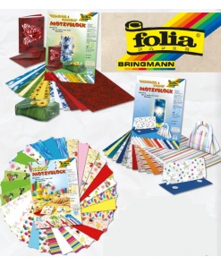 Folia Bloc Carton decorativ 24x34cm motive diverse 30 coli