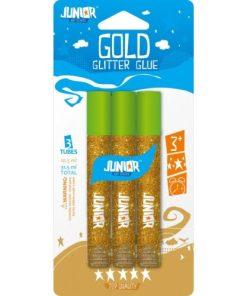 Junior Set Lipici Glitter 3 buc Auriu 131151