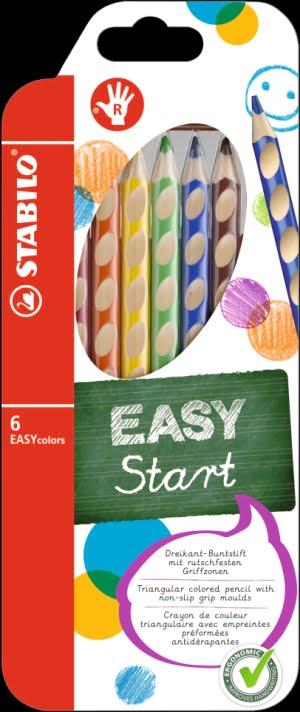Stabilo Creioane Colorate EASYcolors set 6 pentru dreptaci