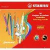 Stabilo Creioane Colorate Swano set 24 în cutie metalică