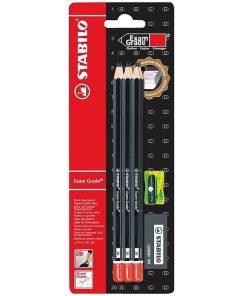 Stabilo Set Exam Grade 6 creioane 2B cu ascutitoare si radiera