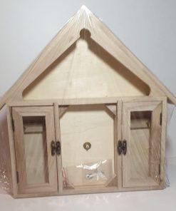 Pent - Ceas din lemn casă + cheiță 14330