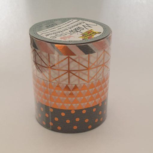 Folia - 4 x Washi tape hotfoil 26416 Bronz