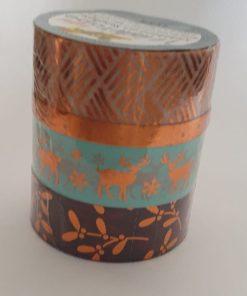 Folia - 4 x Washi tape hotfoil 26427 Bronz