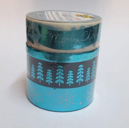 Folia - 4 x Washi tape hotfoil 26434 Crăciun