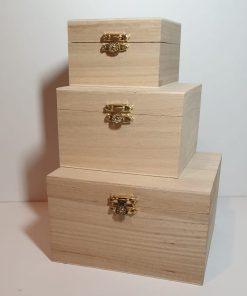 Meyco - Set 3 x cutie din lemn 34610