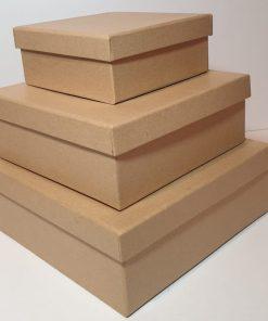 Meyco - Set 3 x cutie din carton natur 34714