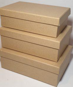 Meyco - Set 3 x cutie din carton natur 34720