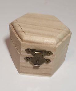 Pent - Cutie din lemn hexagonală 355231