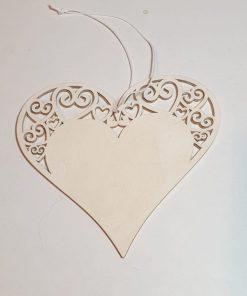 PentArt - Decorațiune lemn inimă albă 4216