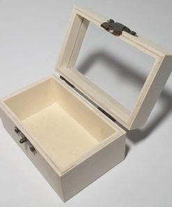 Pent - Cutie din lemn cu capac transparent 5886