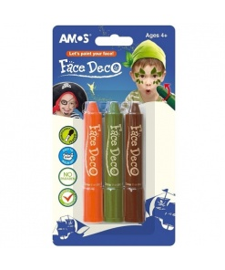 Amos Set Face Deco Pirat set 3 culori