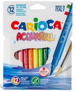 Carioca Carioci Acquarell tip pensulă set 12 culori