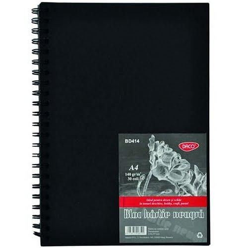Daco Bloc Hârtie Neagră pentru Schițe 140g A4 BD414
