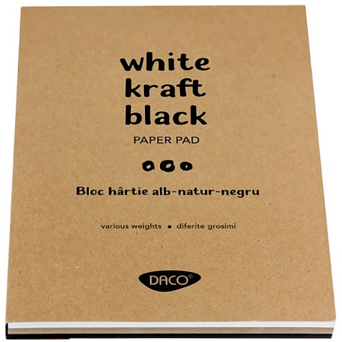 Daco Bloc Hârtie albă-natur-neagră 60 file