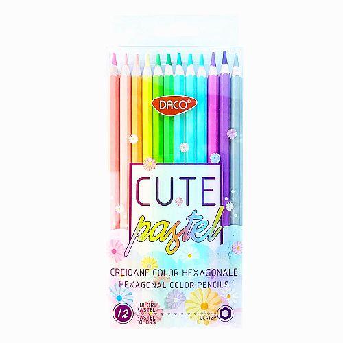 Daco Creioane Colorate Pastel set 12 CC412P