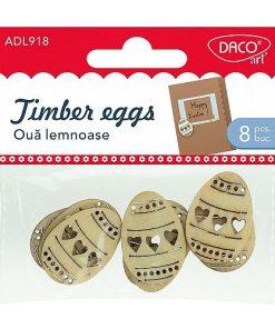 Daco Decorațiuni Paște Ouă Lemnoase ADL918