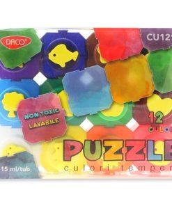 Daco Puzzle Culori Tempera set 12 culori CU121