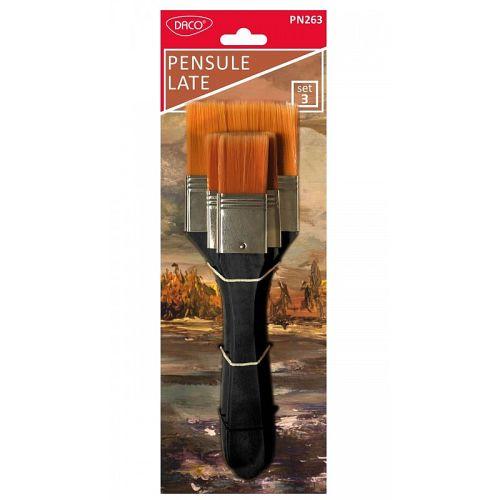 Daco - Set pensule late 3 buc PN263