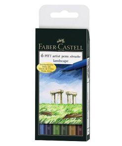 Faber Castell Pitt Artist Pen brush set 6 nuanțe naturale 167105