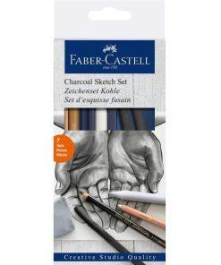 Faber Castell Set pentru Desen cu cărbune 114002