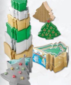 Folia - Cutii de cadou brad din carton set 6 buc Nr. 3609