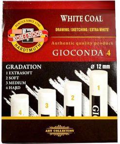 Koh-I-Noor Cărbune Gioconda 4 Alb diverse tării set 4