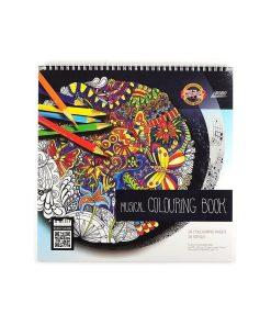 Koh-I-Noor - Carte de colorat Muzicală pentru adulti 9958, conține 24 pagini diferite de colorat din carton offset 190g, 24 piese muzicale