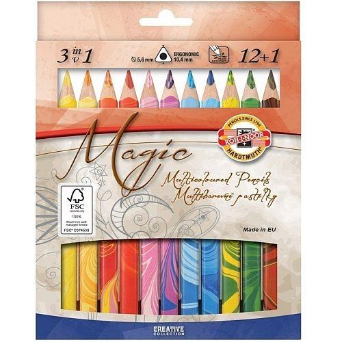 Koh-I-Noor Creioane Colorate Magic Jumbo set 12+1