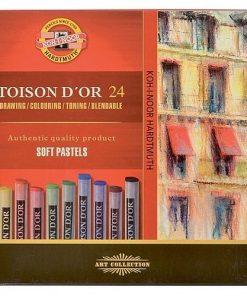 Koh-I-Noor Cretă uscată Pastel Soft Toison D'or set 24