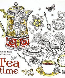 Mandarin Carte de colorat pentru adulți Tea Time 9191